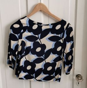 H&M Floral 3/4 sleeve top
